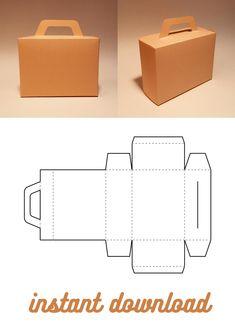 Box Templates Printable Free, Diy Gift Box Template, Box Packaging Templates, Paper Box Template, Paper Crafts Origami, Cardboard Crafts, Diy Box, Make Box, Box Patterns