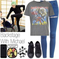 Backstage With Michael by hana-69 on Polyvore featuring Mode, And Finally and H&M
