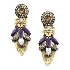 Sam Moon | Gemstone Dangle Earrings $6.99