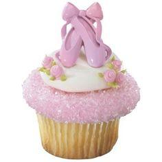 Sapatinhas cor de rosas/slippers ballet cupcake.