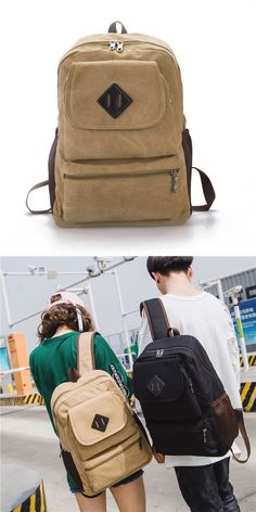 Backpack Ladies Casual Large-Capacity Travel Backpack Fashion College Wind Nylon Cloth Bag Multipurpose Daypacks 24 /× 13 /× 35CM