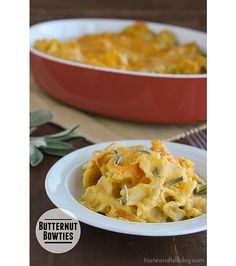 Butternut Bowties | www.tasteandtellblog.com...I would recommend leaving out the nutmeg and cinnamon.