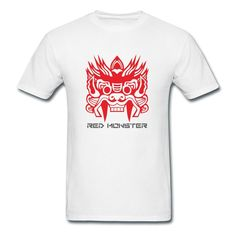 Big Red Monster White Adult Standard Weight T-shirt For Men High Quality-Geek Clothing SAVE up to 80% off,Create custom T-shirts at a fantastic price, no minimum quantity. 100% Satisfaction Guaranteed.