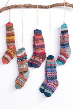 These beautiful knitted wool socks are handmade traditionally in Nepal, they hav… These beautiful knitted wool socks are handmade traditionally in Nepal, they have a patterned leg and foot with striped ribbed cuff. Each design is beautiful! Knitting Wool, Knitting Socks, Hand Knitting, Nepal, Fair Isle Knitting Patterns, Striped Socks, Striped Gloves, Winter Socks, Marca Personal