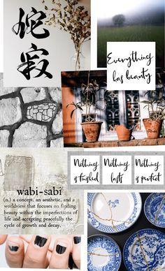 Image result for wabi sabi moodboards