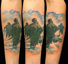 I think this is cool - I love WWII Era history.    'D-Day Tattoo' by Gunnar Valdimarsson Moss, Norway.