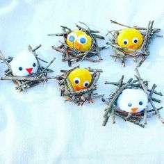 Little birds and sticks Bunny Crafts, Easter Crafts For Kids, Diy For Kids, Spring Art, Spring Crafts, Holiday Crafts, Preschool Art, Craft Activities For Kids, Creative Crafts