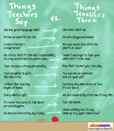 Things Teachers Say vs. Things Teachers Think | More LOLs & Funny Stuff for Moms | NickMom