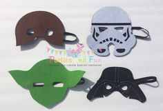 Star Wars Mask, Star Wars Party Favors, Star Wars Costume, Darth Vader Mask, Yoda Mask, Chewbacca Mask, Storm Tropper Mask