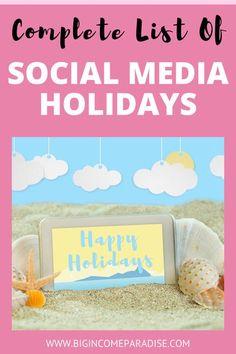 Social Media List, Social Media Marketing Business, Social Media Content, Inbound Marketing, Content Marketing, Christmas Captions For Instagram, Holiday Calendar, Branding, Marketing Strategies