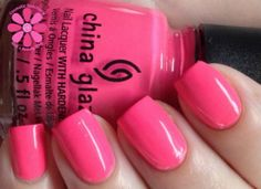 China Glaze Peonies & Park Ave Swatch - Cosmetic Sanctuary; Brand: China Glaze, Name: Peonies & Park Ave, Collection: City Flourish, Color: Neon, Shade: Pastel, Finish: Crème, Type: Glossy