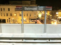 Belmont. Transfer to red or brown lines at Belmont.
