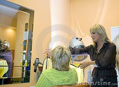 image photo : At the hairdresser