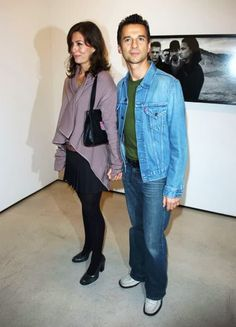 Dave Gahan and his wife Jennifer Sklias-Gahan.
