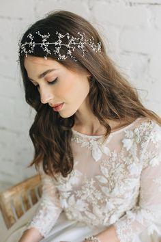 Diadema perla diadema accesorios Wedding del pelo de boda