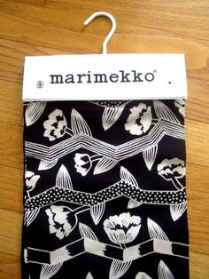 Vintage Fabric Juurakko Marimekko Finland 1983 Black & Sand