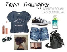 """""""Fiona Gallagher Inspired Look #1: Lazy Summer Day"""" by shameless-style ❤ liked on Polyvore featuring Abercrombie & Fitch, Converse, Witch Worldwide, H&M, Summer, casualoutfit, shameless, characterinspired and fionagallagher"""