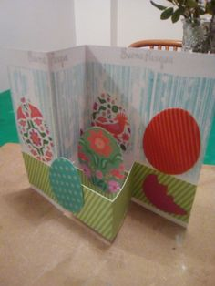 Easter card - Z fold