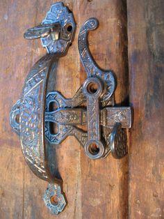 Antique Victorian Thumb Latch Set