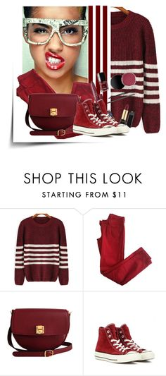 """""""#177"""" by uptodatefashion-julia ❤ liked on Polyvore featuring Comptoir Des Cotonniers, The Code and Converse"""