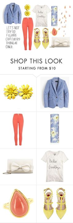 """some number"" by sparkles-and-salamanders ❤ liked on Polyvore featuring J.Crew, River Island, Paul & Joe, RED Valentino, Vintage and Valentino"