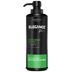 SG-59303 ELEGANCE PLUS GREEN SHAVING LOTION - 16.9 OZ  Shaving is incomplete without the application of Elegance Plus After Shave Lotion with its non-greasy moisturizers that calm, cool and soothe your skin, beside reducing redness and razor burns to get a smoother look.