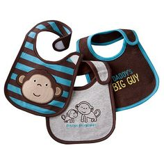 Carter's 3-pk. Solid and Striped Teething Bibs $10.99