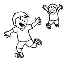 niños-corriendo-para-colorear.gif (505×470)