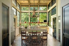 I'm not a fan of the rustic styled interior, but I'm absolutely a fan of those gorgeous windows!