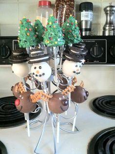 Christmas Cake Pops Christmas Cake Pops, Winter Christmas, Holiday, Pie Pops, Cookie Pops, Cakepops, Cake Designs, Truffles, Winter Wonderland