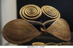 Prehistory. Bronze Age. Belt ornaments. 700-500 a.C. From Jutalndia. National Museum of Denmark. - Stock Image