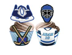 Hockey Cupcake Toppers & Wrappers – Personalized Printables