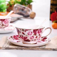 Amazon.com | Royal tea cup Bone China Fashion Ceramic Coffee Cup 8 OZ: Coffee Cups & Mugs