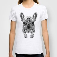 BUY: http://society6.com/product/frenchie-tlp_t-shirt?curator=4thecrime  Frenchie t-shirt