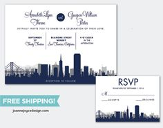 Free Shipping San Francisco Wedding by ChicDarlingPaperie on Etsy