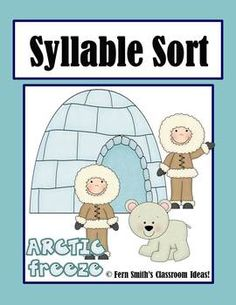 Syllable Sort Arctic Animals Themed Center Game for Common Core! #TPT $Paid