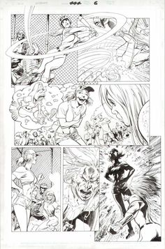 This is page 6 from The Uncanny X-Men n°444, drawn by Alan Davis.