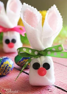 These Easter bunnies are made with just a handful of inexpensive supplies, and they are so easy to make alongside your kids.–tucked inside this adorable packaging is a sweet surprise–a Cadbury Crème Egg! Easy Easter Crafts, Easter Projects, Crafts For Kids, Diy Crafts, Easter Ideas, Spring Crafts, Holiday Crafts, Holiday Fun, Hoppy Easter