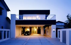 Architecture in Japan Modern House Facades, Modern Buildings, Modern House Design, Container Home Designs, Light Architecture, Architecture Design, 5 Marla House Plan, 3 Storey House, Bungalow Haus Design