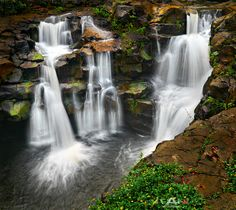 For a fine art print visit www.mattandersonphotography.com Upper Ho'opi'i Falls is a small waterfall along Kapa'a Stream. It's near the...