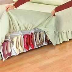 Shoes Away Bedside Shoe Holder - College dorm accessories dorm room essentials stuff for a dorm room college dorm organizer dorm shoe holder