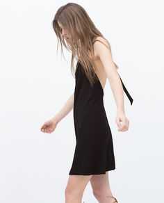 OPEN BACK DRESS WITH HALTER TOP from Zara  #littleblackdress
