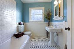 Image result for subway tile and beadboard bathroom