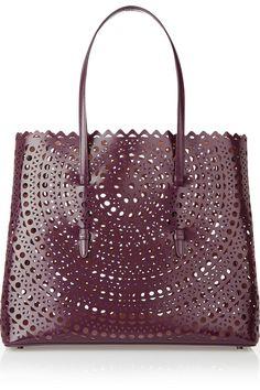 Alaïa|Laser-cut leather tote|NET-A-PORTER.COM