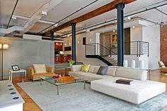 Rénovation contemporaine d'un spacieux loft à New York decodesign / Décoration