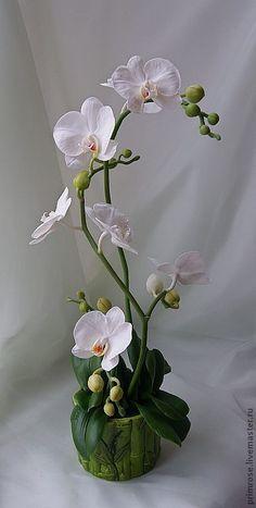 """композиция """"белые орхидеи"""" - орхидеи,орхидея фаленопсис,цветы ручной работы"""