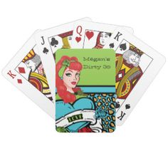 Pin-up Girl, Rock-A-Billy Party Poker Deck
