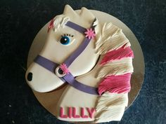 Majestic horse head birthday cake
