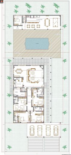 Casa 0 Quartos - 213.53m² Diy Toys Easy, Easy Diys For Kids, Modern House Plans, Small House Plans, House Floor Plans, House In The Woods, My House, House Layouts, Architecture Plan