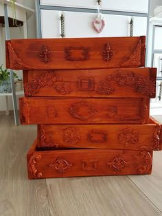 Kisten/Laden verzieren. Shabby Chic, Antiques, Furniture, Home Decor, Light Switches, Crates, Antiquities, Antique, Interior Design